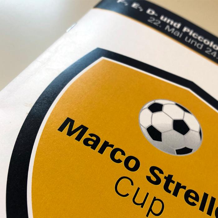 Programmheft Logo Design Marco Streller Cup