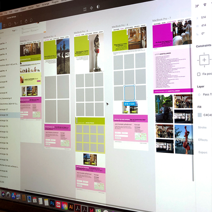 Screendesign Website Entwicklung